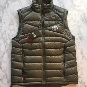 SOLDMen's Small Olive Green Polo Sport Puffer Vest